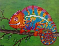 Chameleon painting by ~andrecamilo18 on deviantART