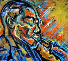 """Yardbird Charlie Parker Jazz Art - Charlie Parker was one of the most influential improvising soloists in jazz, and a central figure in the development of bop in the 1940s. All are jazz greats, but none are as """"bird-like"""" as Charles """"Yardbird"""" Parker Jr."""
