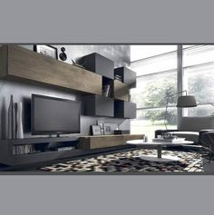 Salón Tonos grises. www.mueblesperojo.com