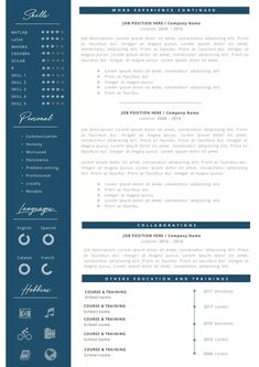 Eye-catching Professional Resume + Cover letter Template Editable for MS Word - Curriculum Vitae - English CV with Fonts included - Resume Cover Letter Template, Cv Template, Letter Templates, Resume Templates, Professional Resume, Job Description, Company Names, Good Mood, Knowledge