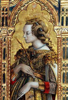 Saint Catherine of Alexandria (4thC AD) by Carlo Crivelli (Italian artist, 1435, Venecia, Italia-1495, Ascoli Piceno, Italia