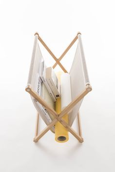 The new Woodnotes Magazine Rack keeps newspapers and magazines in good order. The frame is oak and available also in black. The bag is woven from paper yarn fabric and available several colors. The frame consists of six removable parts, which makes it possible to ship the item in an economical and ecological flat package. Design by Raffaella Mangiarotti and Ilkka Suppanen.