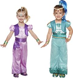 """NickALive!: Nickelodeon Teams Up With Spirit Halloween For """"Shimmer And Shine"""" Costumes"""