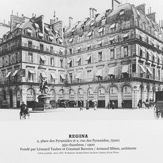 [History] ⚜️ - 120 years ago, the prestigious Hotel Regina Paris was born. Five Star Hotel, 5 Star Hotels, The French Way, Best Location, Travel And Leisure, Parisian, Opera House, Photo Wall, Louvre