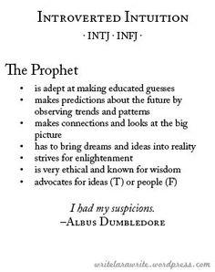 The Prophet: Introverted Intuition