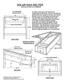 (Solar Wax Melter Plan in pic) BeeSource list of DIY bee supplies Building A Beehive, Bee Hive Plans, Bee Supplies, Raising Bees, Bee Boxes, Save The Bees, Bee Happy, Diy Solar, Bees Knees