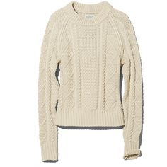 L.L.Bean Signature Signature Cotton Fisherman Sweater ($89) ❤ liked on Polyvore featuring tops, sweaters, shirts, cotton sweater, fisherman sweater, ribbed sweater, ribbed shirt and nautical shirt