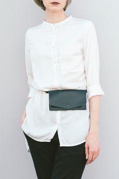 Belt bag leather black, leather waist bag, leather waist pack, leather  handmade belt bag, minimalist leather belt bag, belt pouch wallet 5b6cbcc3503