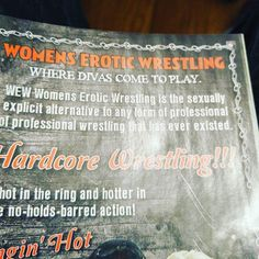 Sometimes you need a little less #noholdsbarred action and a little more #spellcheck.  #hardcorewrestling #womenseroticwrestling # WEW