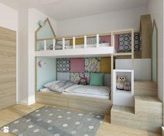 Wilanów - 100m2 - Średni pokój dziecka dla dziewczynki dla rodzeństwa dla malucha, styl skandynawski - zdjęcie od TutajConcept