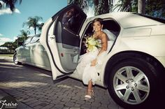 formal brides portrait in limo