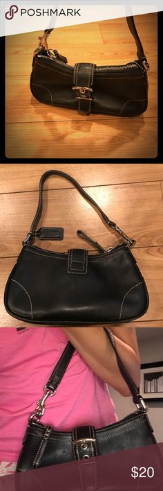 Coach mini purse Authentic Mini black coach purse. Barely used. Great condition. Coach Bags Baby Bags