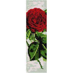 Old Rose Peyote Bead Pattern, Bracelet Cuff, Bookmark, Seed Beading Pattern Miyuki Delica Size 11 Beads - PDF Instant Download by SmartArtsSupply on Etsy