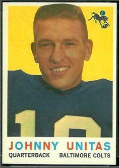 football cards    unitas | John Unitas - 1959 Topps #1 - Vintage Football Card Gallery