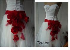 Suknia ślubna, wieczorowa Triada