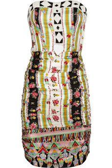 Manoush - Rocaille printed silk dress