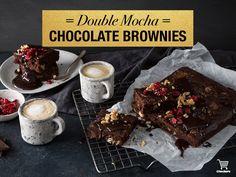 Double chocolate mocha brownies! Mocha Chocolate, Chocolate Brownies, Winter Warmers, Desserts, Food, Chocolate Chip Brownies, Tailgate Desserts, Deserts, Choclate Brownies