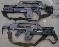 M41-A Pulse Rifle used by the marines, specifically Cpl. Hicks in Aliens