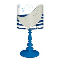 """""""Its a Small World - Whale of a Tale, Disney"""" Kid's Table Lamp by Mary Blair for Oopsy Daisy, Fine Art for Kids $138"""
