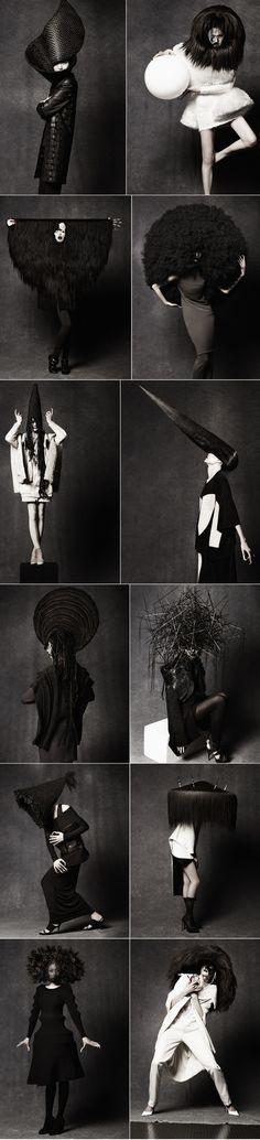 Hairstylist Peter Gray collaborates with Masa Honda. Photographed by Takahiro Ogawa.