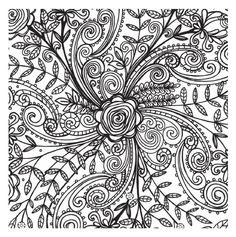 Abstract Doodle Zentangle ZenDoodle Paisley Coloring pages colouring adult detailed advanced printable Kleuren voor volwassenen coloriage pour adulte anti-stress kleurplaat voor volwassenen