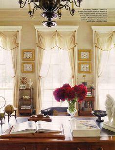 "Interior Design Amelia T Handegan -  Library of South Carolina Greek Revival country home ""Birdsong"".  Architecture by Charleston preservationist Glenn Keyes. Published Sept Oct Veranda 2014."