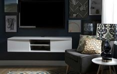 South Shore Media Console / Modern Floating TV Units  http://vurni.com/floating-tv-units/  #floatingtv #mediawallunit #mediaconsole