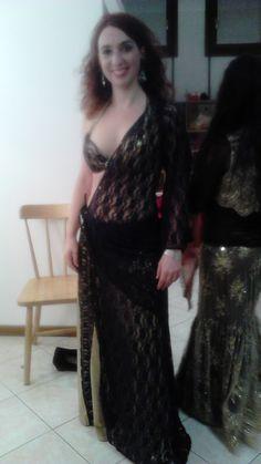 Abito di danza del ventre creato su misura per Metiss Company Dance