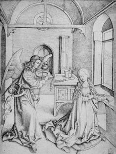 Schongauer, Martin (Kopist): Mariä Verkündigung
