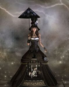 A music box of Steampunk and Cosplay ~ Fantasy Artist Propschick. Dark Circus, Circus Art, Circus Poster, Steampunk Costume, Steampunk Fashion, Arte Punch, Circo Vintage, Pierrot, Night Circus