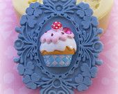 Cupcake Frame Mold Frame Silicone Flexible Clay Resin Mould