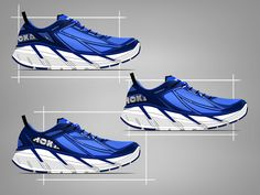 HOKA One One Clifton 2 by Ghost Works industrial design consultancy Hoka Clifton, Sneakers Design, Shoe Sketches, Industrial Design, Designer Shoes, Running Shoes, Footwear, Design Inspiration, Concept