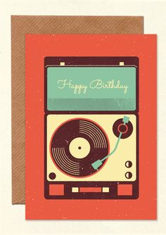 BIRTHDAY SOUNDTRACK  Greetings card   £3.50