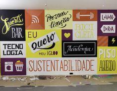 Apresentamos orgulhosamente o primeiro trabalho do Criatipos, uma super parede de letterings e cores no plantão de vendas do iGLOO Curitiba. Dois dias de muito trabalho e diversão!We proudly present Criatipos' first work, a wall of letterings and colors …