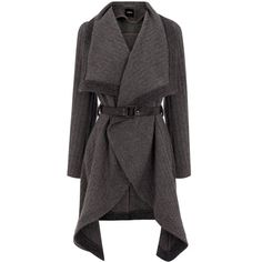 OASIS Textured Drape Coat ($65) ❤ liked on Polyvore featuring outerwear, coats, jackets, sweaters, cardigans, textured coat, wrap coat, oasis coat and drape coat