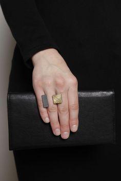 Mondrian Ring, Silver/Gold 825.00 USD