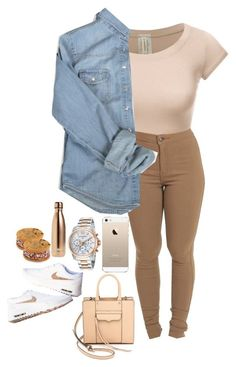 """Untitled #80"" by wavyjai ❤ liked on Polyvore featuring Rebecca Minkoff, Swiss Legend and S'well"