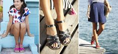 sandales d'eau en cuir - noir