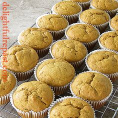 Pumpkin Spice Muffins - makes 18 and uses whole can of pumpkin / www.delightfulrepast.com Large Pumpkin, A Pumpkin, Pumpkin Puree, Pumpkin Recipes, Muffin Recipes, My Recipes, Pumpkin Spice Muffins, Sugar Intake, No Waste