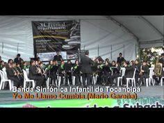 Interpretando aires colombianos. Banda participante en casificatirio a concurso Departamental en Villeta, Cundinamarca.