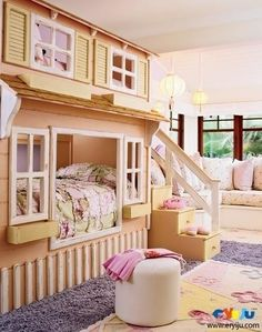 very cute bunk bed for a girl