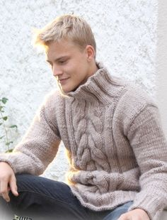 Hand knit sweater men Aran wool sweaters Hand knitted jumper Knitted pullover for men All sizes and colors Boys jumper Mens knitwear – Knitted Sweater Bloğ Hand Knitted Sweaters, Wool Sweaters, Knitting Patterns Free, Free Knitting, Free Pattern, Crochet Patterns, Cable Sweater, Men Sweater, Cable Knit