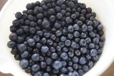 Blueberries are picked in the garden.