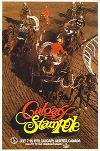Calgary Stampede poster 1978  My first ever Stampede.  My grandfather bought me a cowgirl hat with a whistle.