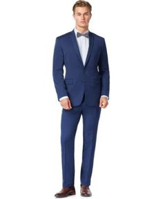 Bar III Colbalt Blue Slim-Fit Suit Separates, Only at Macy's
