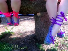 Crochet Ballet Slippers- Free Pattern
