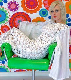 Vintage BOHO Crochet Dress
