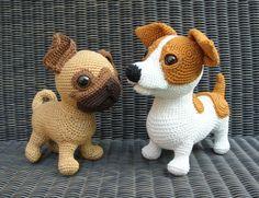 Amigurumi Jack Russell Pattern : Amigurumi jack russell terrier puppy free pattern link