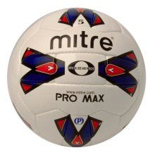 Mitre Pro Max Professional quality matchball engineered to exacting Mitre standards. Maximum performance from balanced linings and exclusive MAXLOC bladder system. http://www.comparestoreprices.co.uk/football-equipment/mitre-pro-max.asp