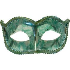 Luster Shimmer Green Masquerade Mask for Men and Women A-2702GR ($18) ❤ liked on Polyvore featuring men's fashion